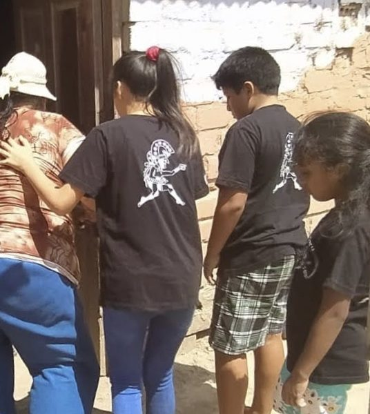 Distributing food baskets to some of the poorest areas near the refuge